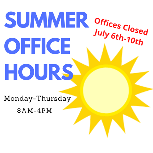 July Summer Office Hours