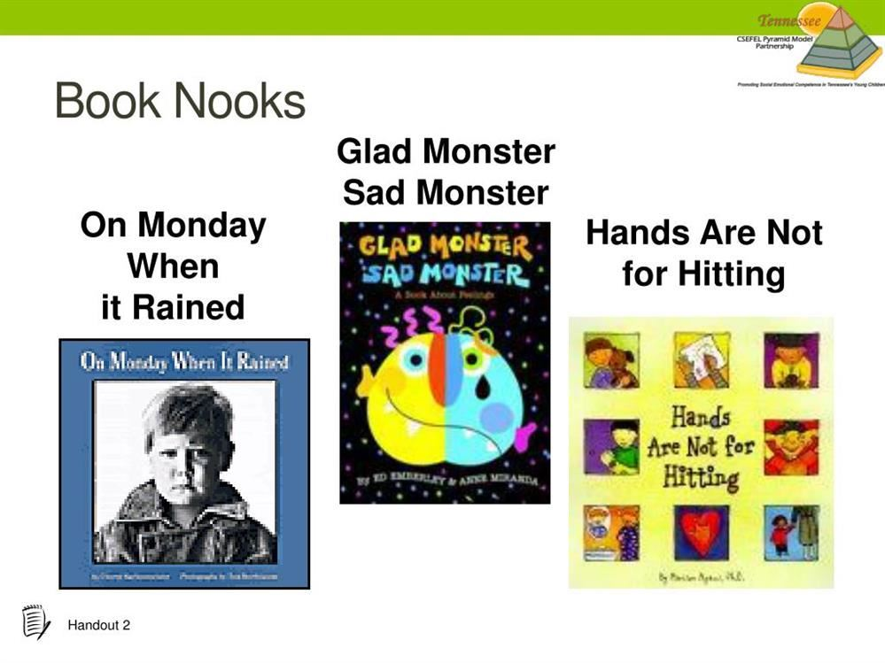 Center on the Social and Emotional Foundations for Early Learning Book Nooks