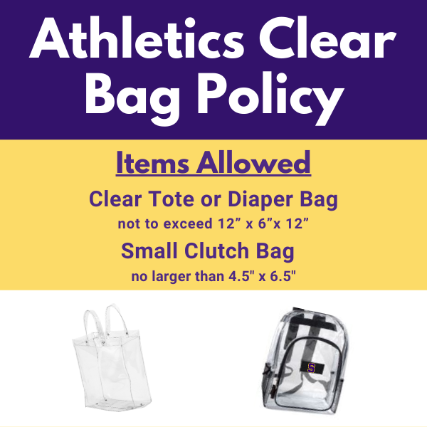 Athletics Clear Bag Policy