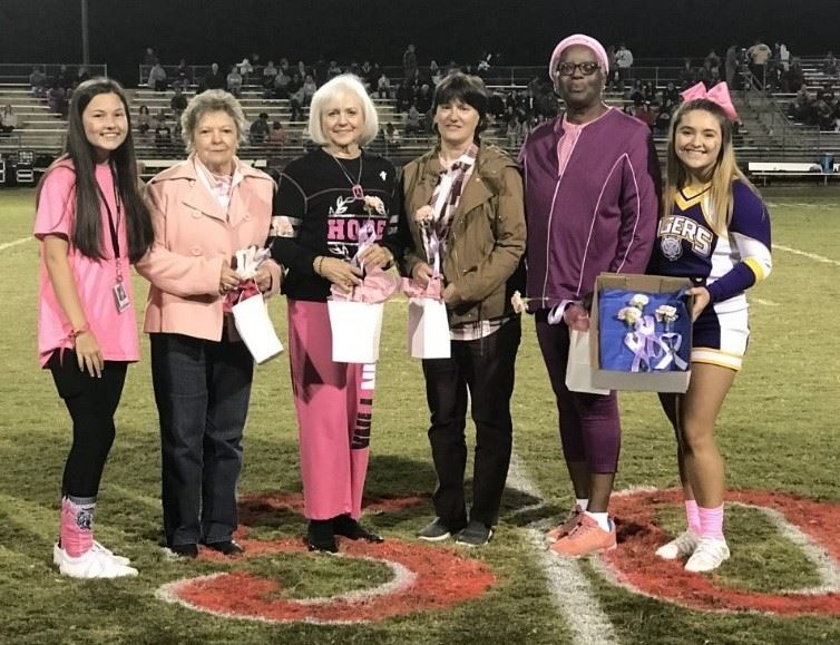 HOSA Honors Breast Cancer Survivors at Pink Out Game