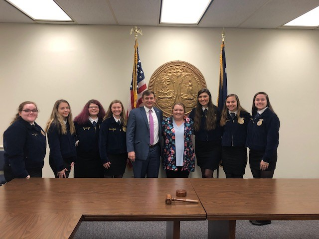 SHS FFA Attends Legislature Appreciation Day