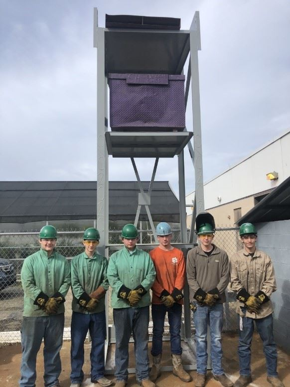 Senior Welding Students Leave Lasting Mark at Swansea High School